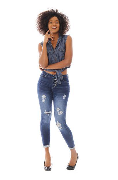 Calça Jeans Feminina Cigarrete - 258953 36