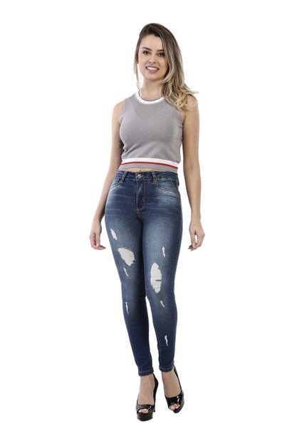 Calça Jeans Feminina Cigarrete - 260816 36