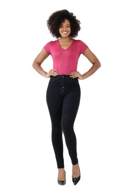 Calça Jeans Feminina Cigarrete Preta - 259901 36