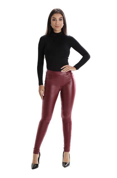 Calça Jeans Feminina Cigarrete Vinho - 260376 36
