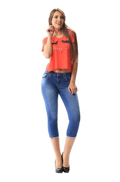 Calça Jeans Feminina Cropped - 256210 36