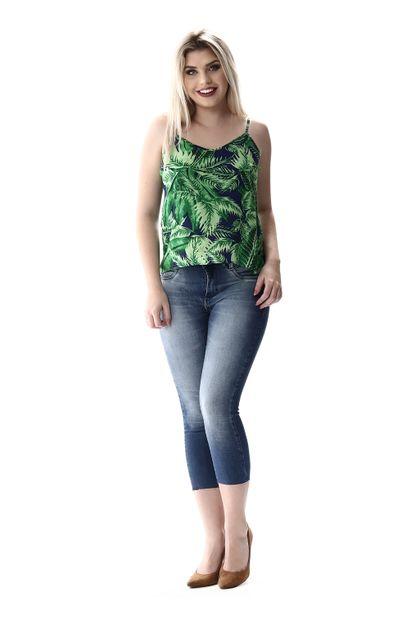Calça Jeans Feminina Cropped - 256642 36
