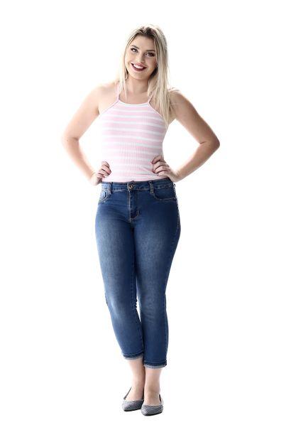 Calça Jeans Feminina Cropped - 256284 36