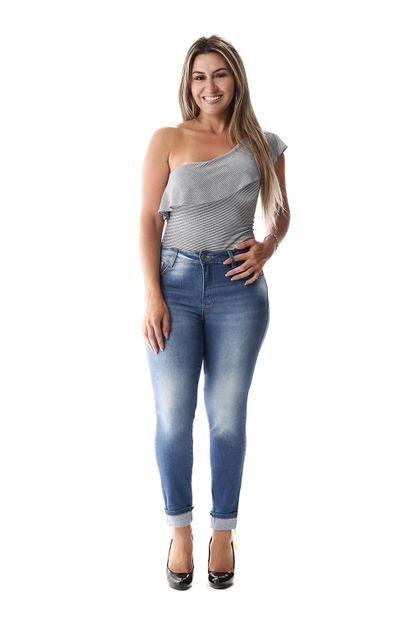 Calça Jeans Feminina Cropped - 257038 36