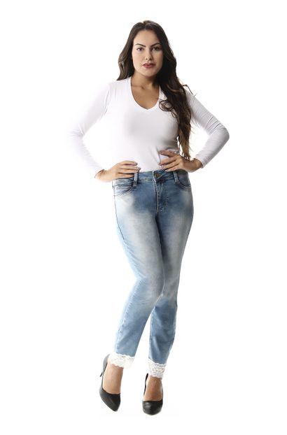 Calça Jeans Feminina Cropped - 257540 36