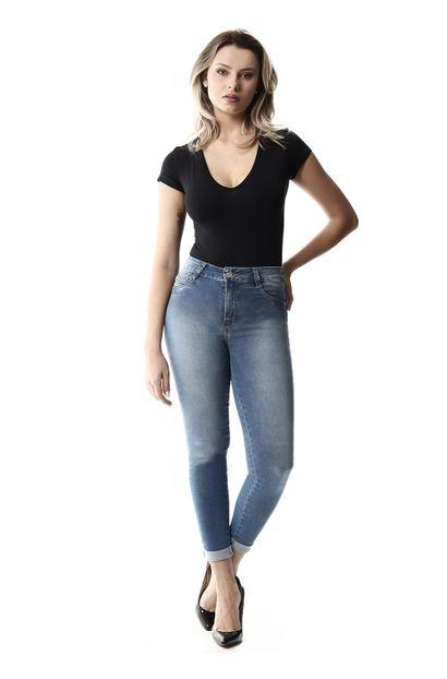 Calça Jeans Feminina Cropped - 257679 36
