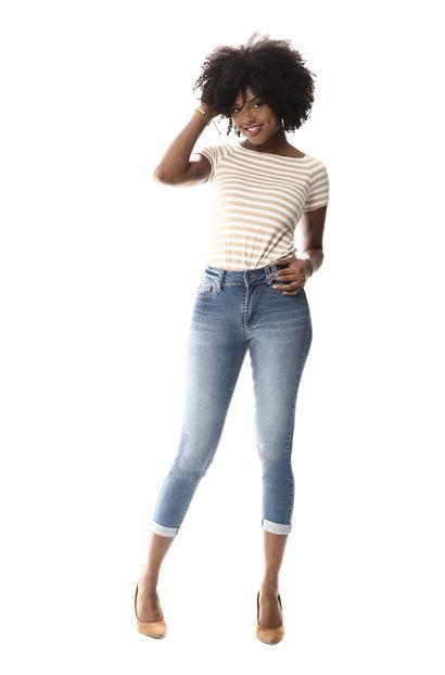 Calça Jeans Feminina Cropped - 257718 36