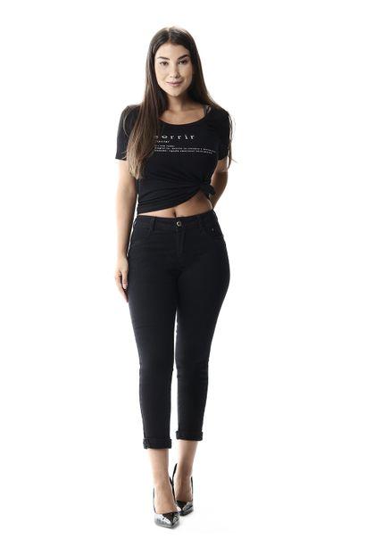 Calça Jeans Feminina Cropped - 258084 34