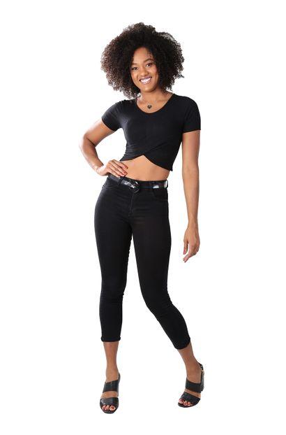 Calça Jeans Feminina Cropped - 259647 36