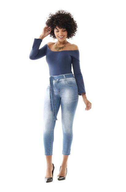 Calça Jeans Feminina Cropped Clochard - 259460 36