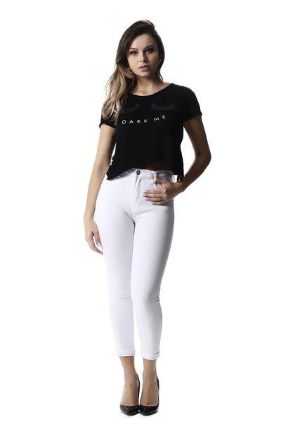 Calça Jeans Feminina Cropped Super Lipo - 257450 36