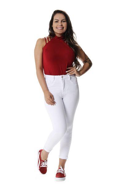Calça Jeans Feminina Cropped Super Lipo - 257815 38