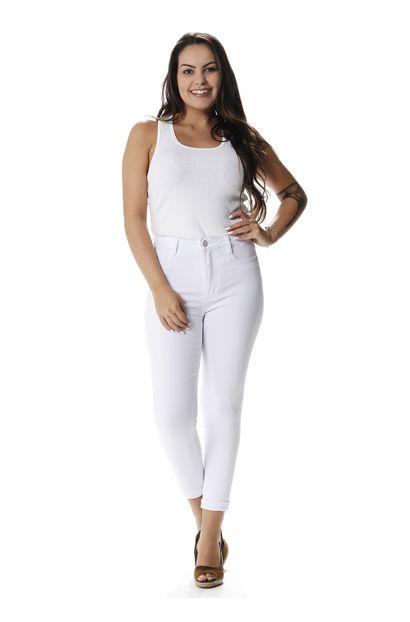 Calça Jeans Feminina Cropped Super Lipo - 258017 36
