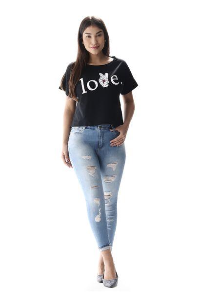 Calça Jeans Feminina Cropped Up - 256943 36