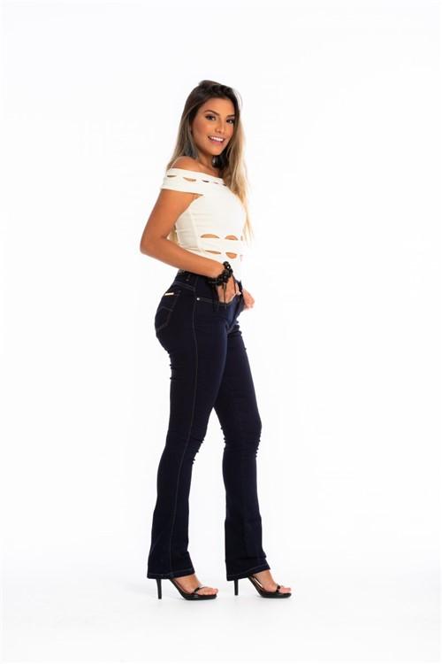 Calça Jeans Feminina Flare - Azul Escuro