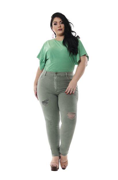 Calça Jeans Feminina Legging Plus Size - 255834 46