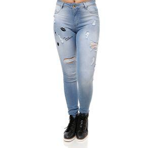 Calça Jeans Feminina Mokkai Azul 44