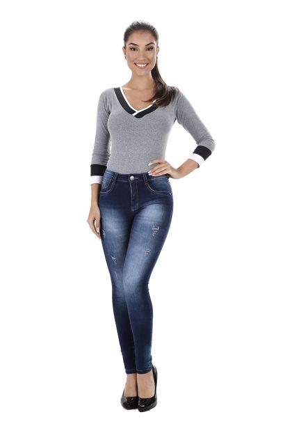 Calça Jeans Feminina Skinny - 259628 36