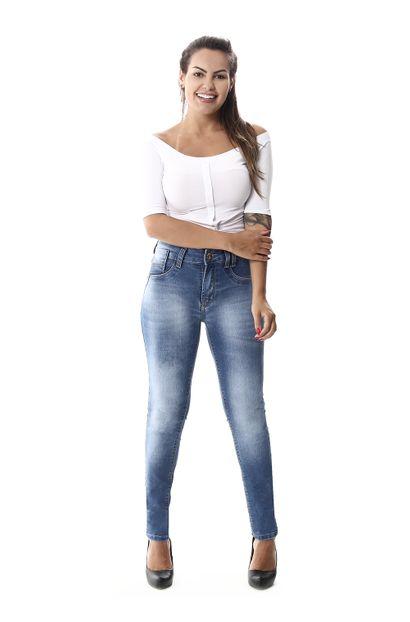 Calça Jeans Feminina Skinny Intermediaria Levanta Bumbum- 257898 42