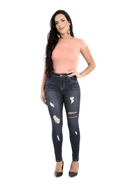 Calça Jeans Feminina Skinny Levanta Bumbum - 260750 36