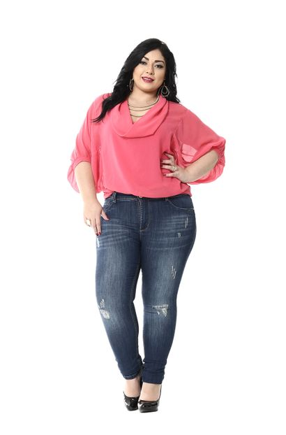 Calça Jeans Feminina Skinny Plus Size - 255005 46