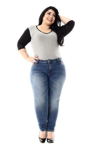 Calça Jeans Feminina Skinny Plus Size - 255307 46