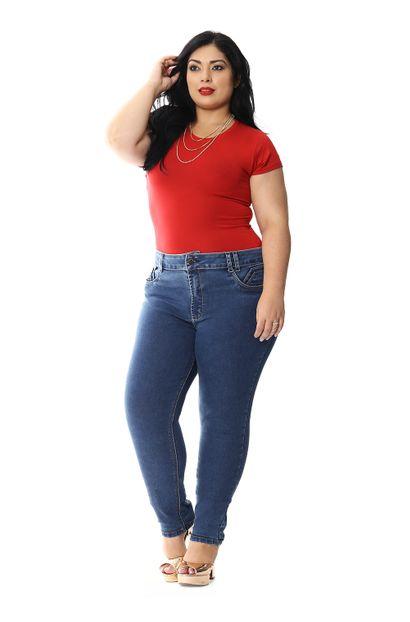 Calça Jeans Feminina Skinny Plus Size - 258799 46