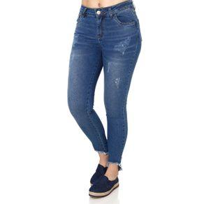Calça Jeans Feminina Uber Azul 40