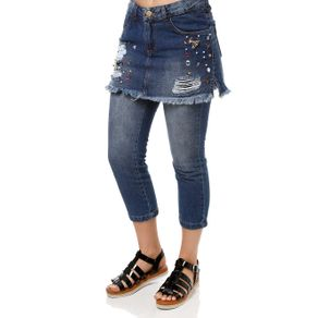 Calça Jeans Feminina Uber Azul 42