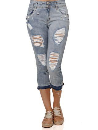Calça Jeans Feminina Uber Azul