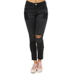 Calça Jeans Feminina Uber Preto 38
