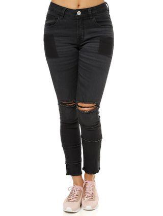 Calça Jeans Feminina Uber Preto