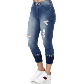 Calça Jeans Feminina Zune Azul 44