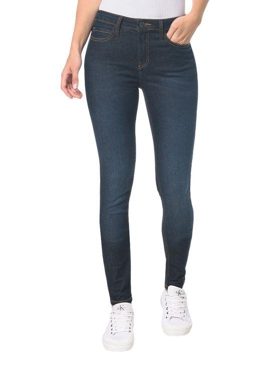 Calça Jeans Five Pock High Rise Skinny - Blue Black - 34