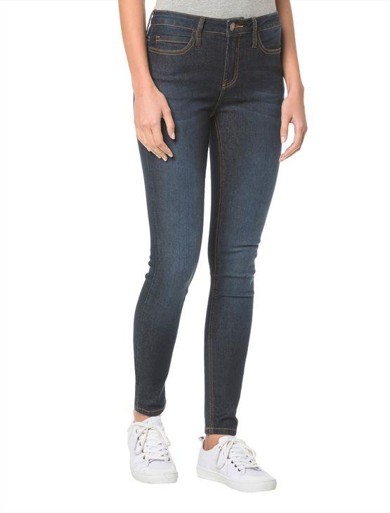 Calça Jeans Five Pockets Ckj 001 Super Skinny- Marinho Calça Jeans Five Pocktes Super Skinny Ckj 001 Super Skinny - Marinho - 34