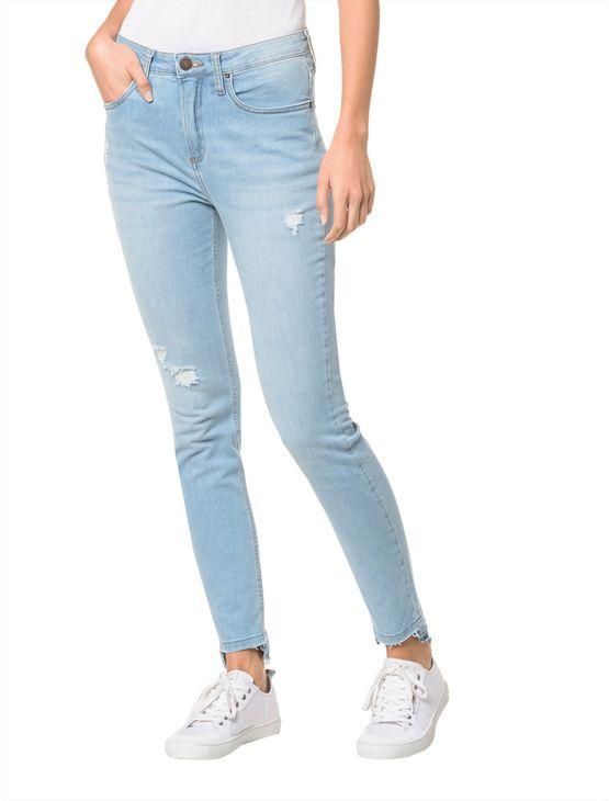 Calça Jeans Five Pockets Ckj 010 High Rise Skinny - Azul Claro Calça Jeans Five Pockets High Rise Skinn - Azul Claro - 34