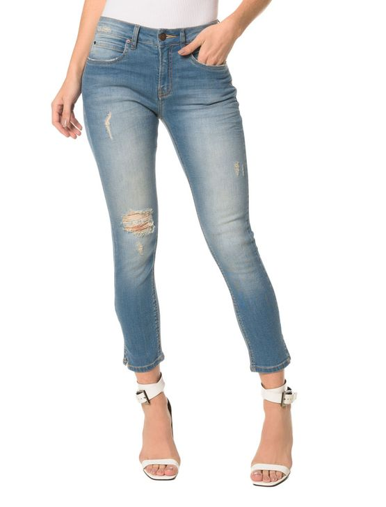 Calça Jeans Five Pocktes Mid Rise Skinny CKJ 011 Mid Rise Skinny - Azul Claro - 38