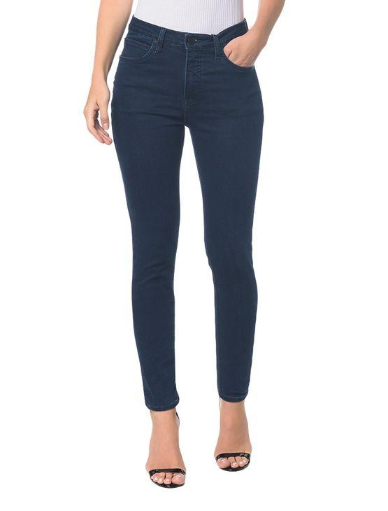 Calça Jeans Five Pockets High Rise Skinny - Marinho - 34