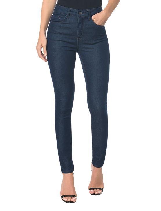 Calça Jeans Five Pockets Jegging High Marinho - 40
