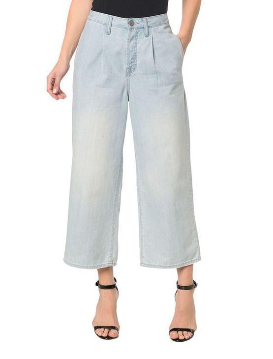 Calça Jeans Five Pockets Pantalona - 40