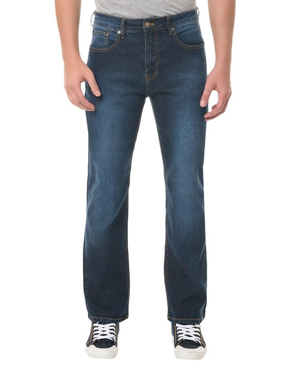 Calça Jeans Five Pockets Relaxed Straight Marinho CALÇA JEANS FIVE POCKETS RELAXED STRAIGH - MARINHO - 38