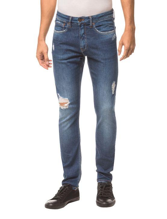 Calça Jeans Five Pockets Skinny - Marinho - 36