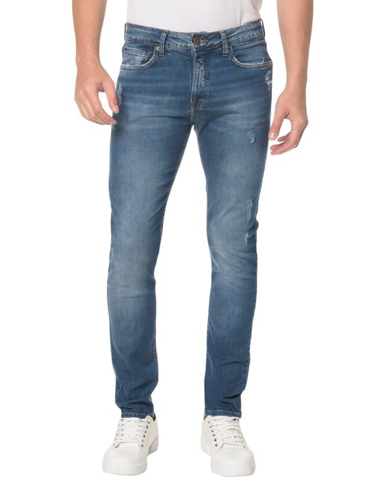 Calça Jeans Five Pockets Slim - 40