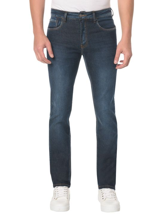 Calça Jeans Five Pockets Slim Straight - 46