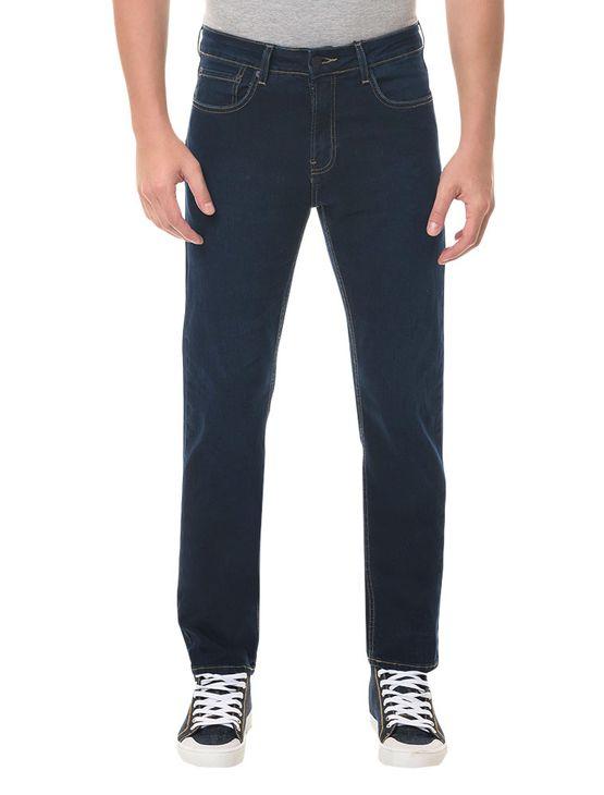 Calça Jeans Five Pockets Slim Straight Marinho CALÇA JEANS FIVE POCKETS SLIM STRAIGHT - MARINHO - 36