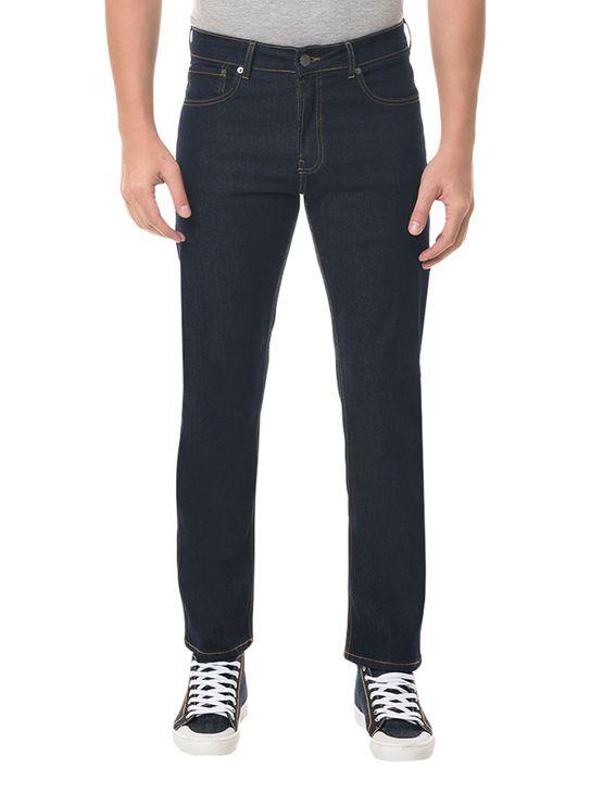 Calça Jeans Five Pockets Straight Marinho CALÇA JEANS FIVE POCKETS STRAIGHT - MARINHO - 38