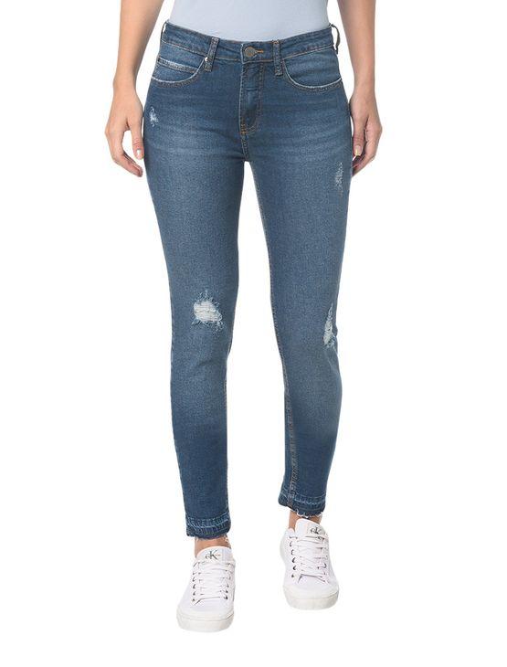 Calça Jeans Five Pocktes Mid Rise Skinny CKJ 011 Mid Rise Skinny - Azul Médio - 34