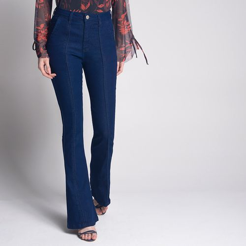 Calça Jeans Flare Azul Escuro - 44