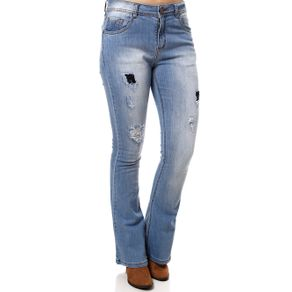 Calça Jeans Flare Feminina Azul 40