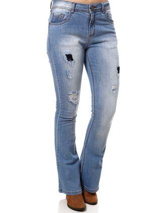 Calça Jeans Flare Feminina Azul